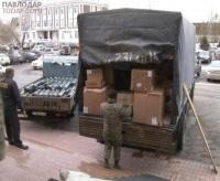 Три фуры с гуманитарной помощью отправили сегодня в ВКО из Павлодара