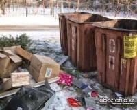 """Представители ТОО """"Спецмашин"""" ответили на критику павлодарцев, недовольных кучами мусора возле контейнеров"""
