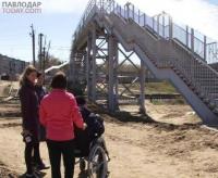 Строящийся переход через железнодорожные пути в районе Химгородков павлодарцы единогласно называют неудобным