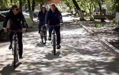 Павлодарские полицейские провели велорейд по объезду и закрашиванию наркограффити