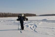 В Павлодарской области официально начала функционировать одна ледовая переправа через Иртыш