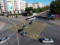По улице Сатпаева в Павлодаре нанесли новую разметку для эксперимента