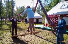 В парке Гагарина открыли летний этноаул