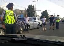 Массовое ДТП в Павлодаре: на проспекте столкнулись четыре авто