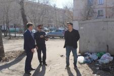 Санитарное состояние дворов проверяется в ходе рейда в Павлодаре