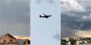 Самолет из Алматы 40 минут не мог приземлиться в Павлодаре из-за грозы
