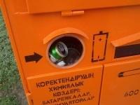 Павлодарцы выкидывают в контейнер для ртутьсодержащих отходов обычный мусор