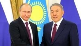 Путин поздравил Назарбаева с 25 годовщиной установления дипломатических отношений