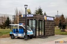 Стационарный пункт полиции открыли на центральной набережной в Павлодаре