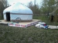 В парке Гагарина устанавливают этноаул на 26 юрт