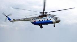 Четыре человека пострадали при падении вертолета в Кызылординской области
