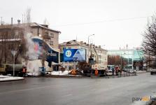 Некоторые павлодарские автобусы на неделю изменят маршруты из-за земляных работ на дороге