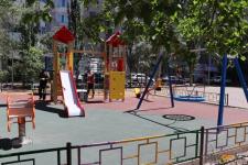 Первые из ста новых детских площадок в Павлодаре готовят к открытию