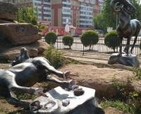 В Павлодаре от рук вандалов пострадал горный козел на улице Независимости
