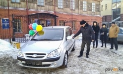 В Павлодаре ветеранской организации вручили автомобиль