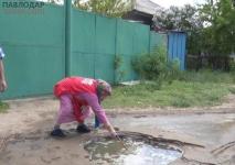 В Павлодарена улице Кирпичная едва не произошло ЧП с летальным исходом