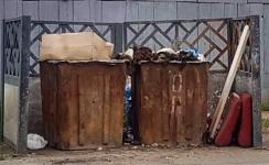 После визита полиции животноводы пообещали больше не выбрасывать отходы от баранов в мусорные контейнеры