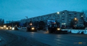 В Павлодаре более ста единиц техники брошены на борьбу с гололедом