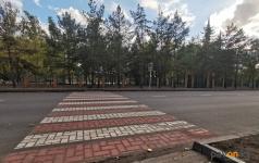 Пробную разметку пешеходных переходов нанесли в Павлодаре