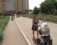 В Павлодаре полкилометра пешком вынуждены идти жители новостроек