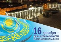 Программа празднования Дня Независимости Республики Казахстан