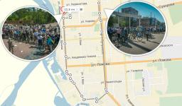 10,5 километров преодолели павлодарцы во время субботнего велопробега